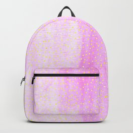 pink pastel with golden dots Backpack