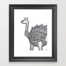 Dino Ostrich Framed Art Print