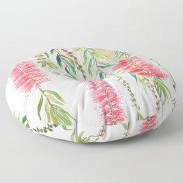 bottle brush tree flower Floor Pillow