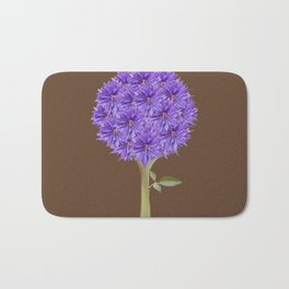 Flowerpower - Purple Flower Ball - Society6# #buyart Bath Mat