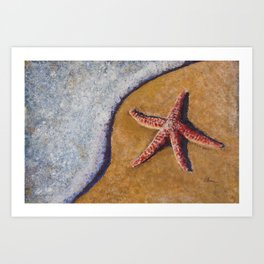 Beach Bubbles Art Print