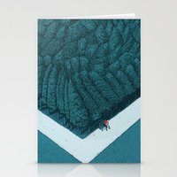 silent Stationery Cards featuring Blue Silent by Andrea Dalla Barba