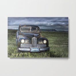 Vintage Automobile at Dusk Metal Print
