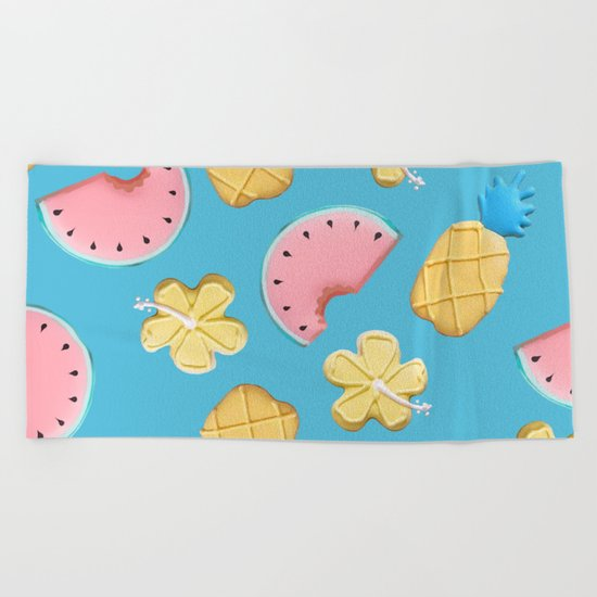 Tropikal pattern Beach Towel