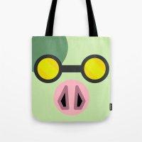 animal crossing Tote Bags featuring Animal Crossing Cobb by Rebekhaart