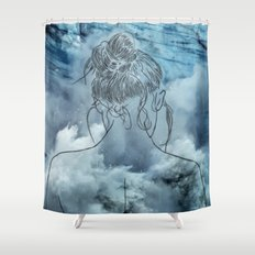 Lonely woman Shower Curtain