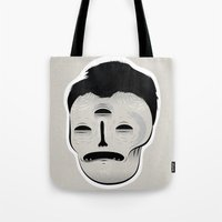 dracula Tote Bags featuring Dracula by Mila Spasova