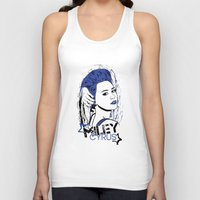 miley cyrus Tank Tops featuring Miley Cyrus by Becky Doyon