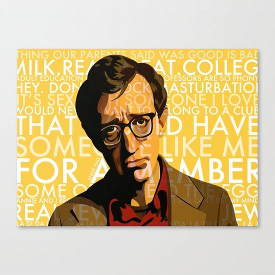Woody Allen - Annie Hall I Canvas Print