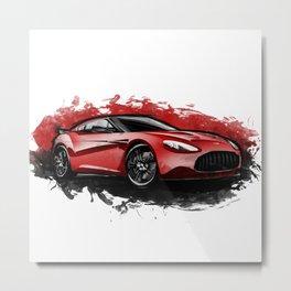 Aston Martin V12 Zagato Metal Print