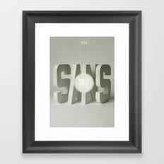 Sans Serif Framed Art Print