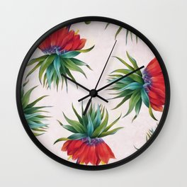 Crown imperial flowers Wall Clock