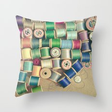 Cotton Reels Throw Pillow