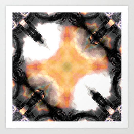 Water Rust Pattern 003 Art Print