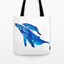 Humpback Whale Mother and Calf Tote Bag