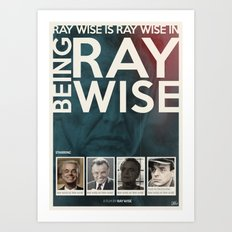 Ray Wise stars in Ray Wise's Being Ray Wise Art Print