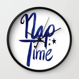 Nap Time   Lazy Sleep Typography Wall Clock
