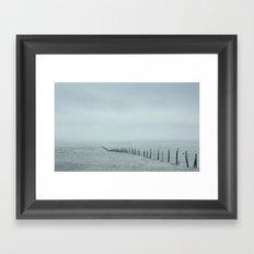 White on White Framed Art Print