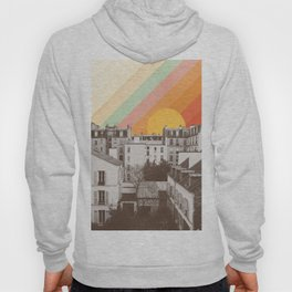 Rainbow Sky Above Paris Hoody