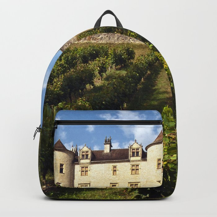 Medieval Castle in southwestern France Backpack