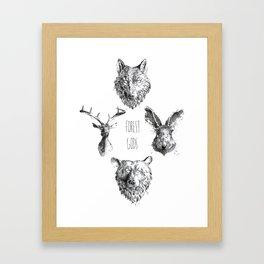 Forest Gods Framed Art Print