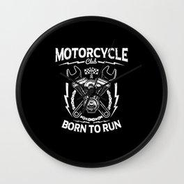 Motorcycle club Wall Clock