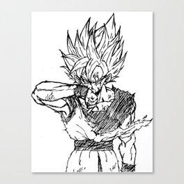 Super Saiyan Son Goku Drawing Canvas Print