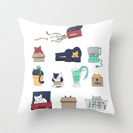 Contain Yourself Throw Pillow