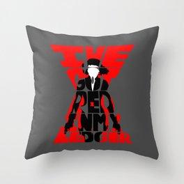 Black widow red Throw Pillow