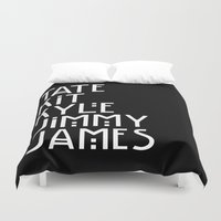 coven Duvet Covers featuring American Horror Names by Ludwig Van Bacon
