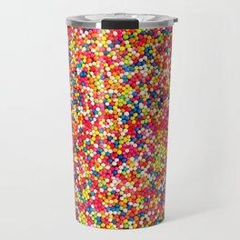 Vibrant Rainbow Sprinkles Travel Mug