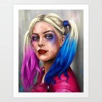 harley Art Prints featuring Harley by Lara