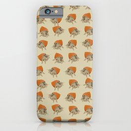 Crab at home in a seashell iPhone Case