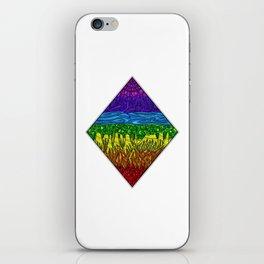 Geometric Rainbow Seven Chakras iPhone Skin