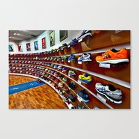 runner Canvas Prints featuring Runner by LeicaCologne Germany