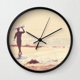 Surfer photograph. A Visceral Need Wall Clock