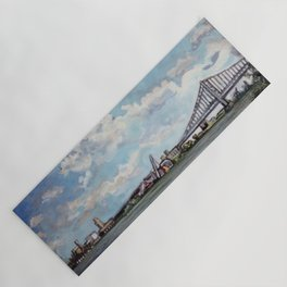 Ben Franklin Bridge from Penn Treaty Park Yoga Mat