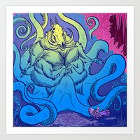 Hollowspine Rider meets the Lord of the Hunt Art Print