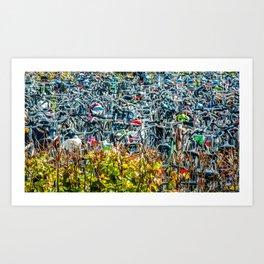 Crazing bike parking Art Print