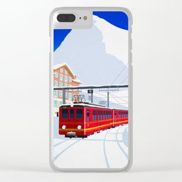 Grindelwald Ski Poster Clear iPhone Case