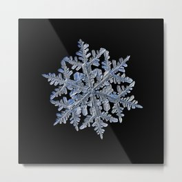 Real snowflake 13 February 2017 n.3 black Metal Print