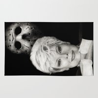 laura palmer Area & Throw Rugs featuring Betsy Palmer by Giampaolo Casarini