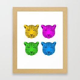 Panthera pardus Framed Art Print