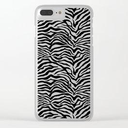 Zebra skin pattern Clear iPhone Case
