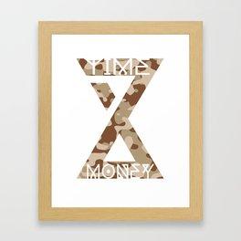 Time is Money Framed Art Print