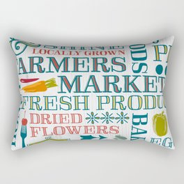 Farm Fresh Market Signage Rectangular Pillow