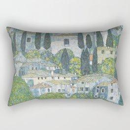 Gustav Klimt - Church In Cassone  1913 Rectangular Pillow
