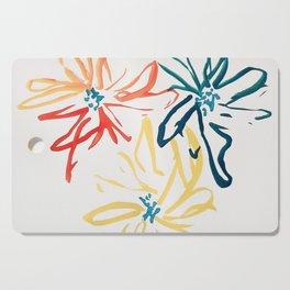 Gestural Blooms Cutting Board