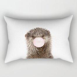 Bubble Gum Baby Otter Rectangular Pillow