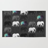 dumbo Area & Throw Rugs featuring WHERES DUMBO by Nizhoni Creative Studio